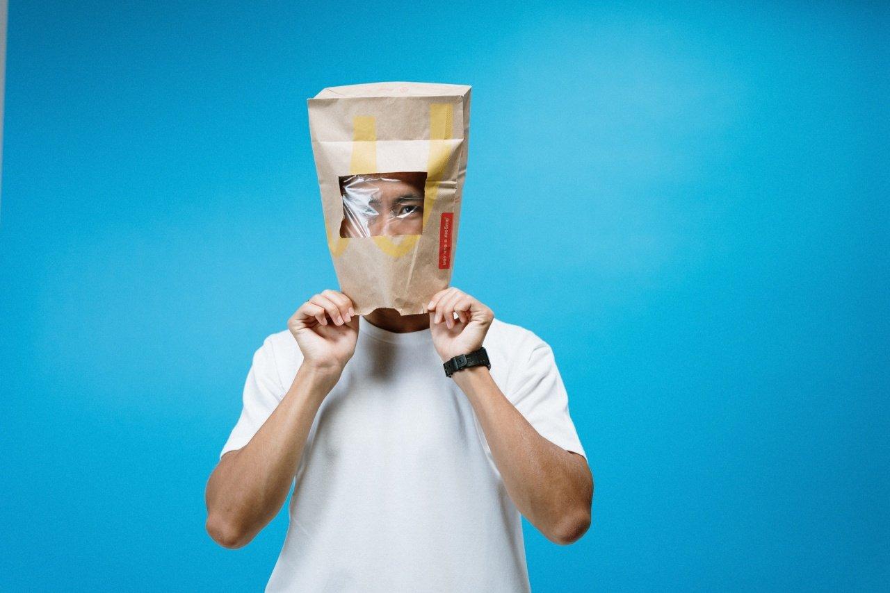 coronavirus paper bag